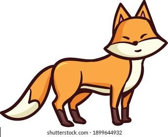 Cute caricatura zorro divertida colección de zorros rojos.