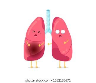 cough cartoon images stock photos vectors shutterstock https www shutterstock com image vector cute cartoon funny unhealthy illness lungs 1552185671