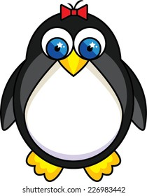 Cute Cartoon Girl Penguin