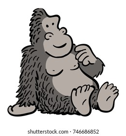 cute cartoon gorilla