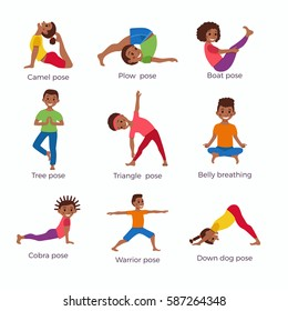 beginner easy kid yoga poses for 2  images  amashusho