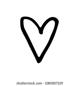 Cute Cartoon Hand Drawn Heart Icon Stock Illustration 1101650399