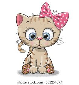 Image of: Png Cute Cartoon Kitten Girl Isolated On White Background Shutterstock Kitten Cartoon Images Stock Photos Vectors Shutterstock