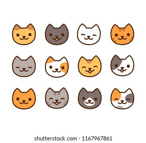 Cat Face Illustration Stock Illustrations Images Vectors