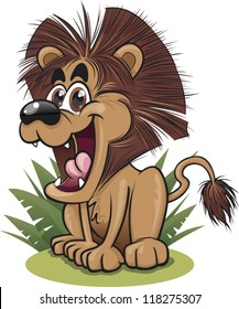 A cute cartoon lion
