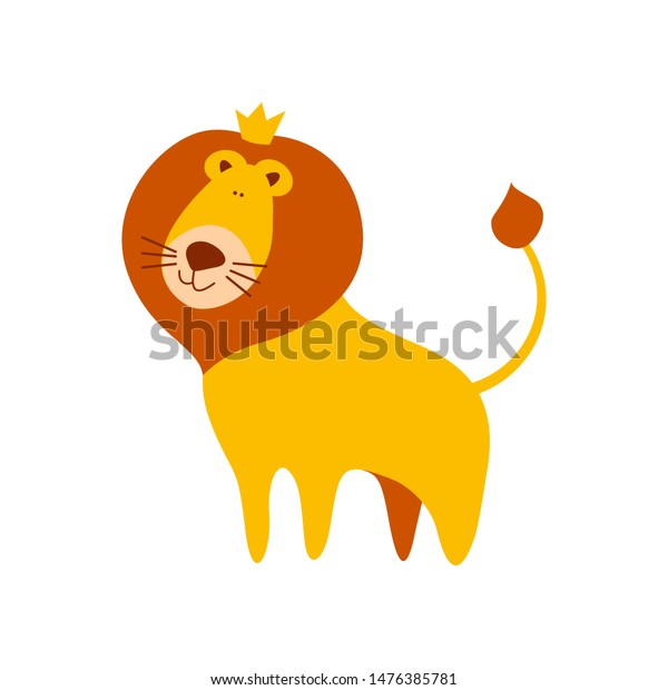 Cute Cartoon Lion Crown On Head Stock Vector Royalty Free 1476385781 Download a free preview or high quality adobe illustrator ai, eps, pdf and high resolution jpeg versions. shutterstock