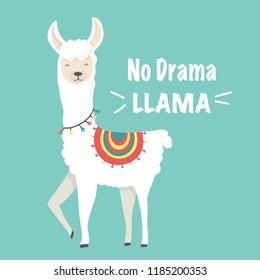 Cute cartoon llama design