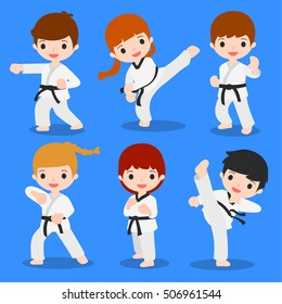 cute cartoon of martial arts