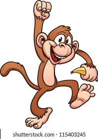 cartoon monkey images stock photos vectors shutterstock rh shutterstock com cartoon monkey pictures to color printable cartoon monkey pictures