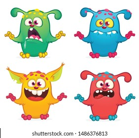 Cute cartoon Monster set. Halloween design