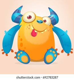 Cute cartoon monster. Vector funny monster character