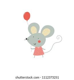 Cute cartoon mouse