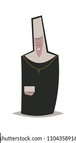 Cute cartoon nun.