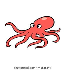 cute cartoon octopus