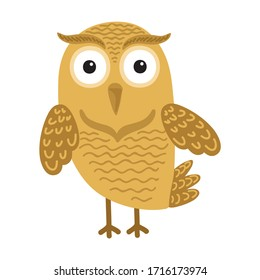 Cute cartoon owl. Vector illustration
