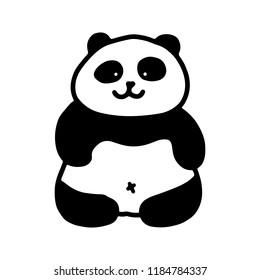 a2b54e909ead Cartoon Animals Black White Images, Stock Photos & Vectors ...