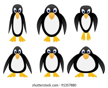 Cute cartoon penguins