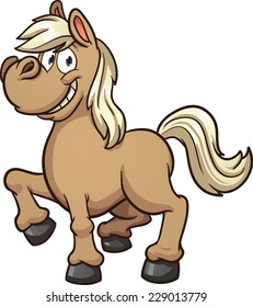 Cute Cartoon Pony Vector Clip Art Illustration With Simple Gradients All In A Single