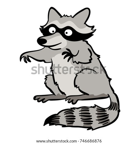 cute cartoon raccoon