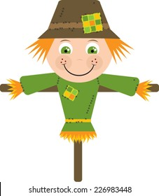 Cute Cartoon Scarecrow