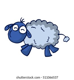 Cute cartoon sheep vector illustration