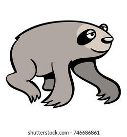 cute cartoon sloth walking