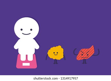 Funny Obese Cartoon Illustration Images Stock Photos Vectors