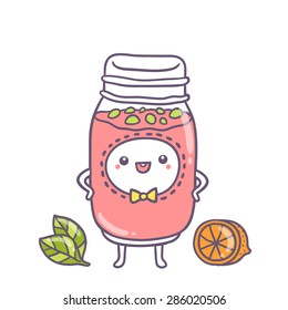 cute cartoon smoothie character