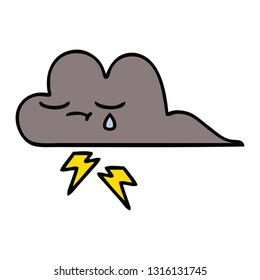cute cartoon of a storm cloud