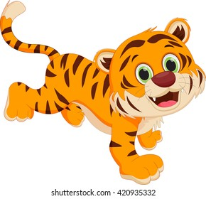 cute cartoon tiger