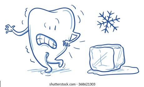 Cartoon pictures of being cold