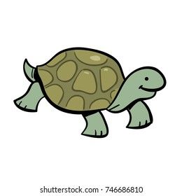 cute cartoon tortoise or turtle