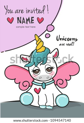 Cute Cartoon Unicorn With Pink Wings Unicorns Are Real