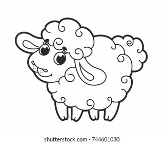Sheep Outline Images, Stock Photos & Vectors | Shutterstock