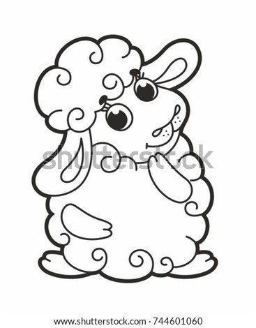cute cartoon vector sheep funny lamb stock vector royalty free Funny Taylor Swift cute cartoon vector sheep funny lamb vector illustration for kids outline