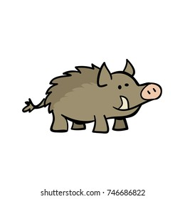 cute cartoon warthog
