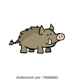 cute cartoon warthog