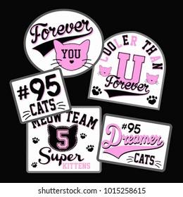 cute cat badges