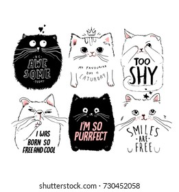 cute cat card series