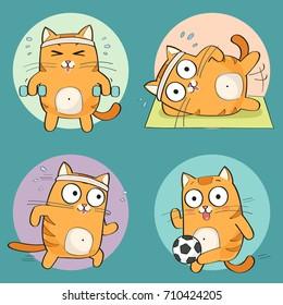 Funny Gym Cartoon Images, Stock Photos & Vectors | Shutterstock