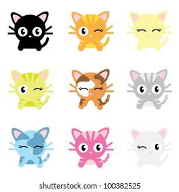 Cute Cat Characters