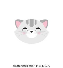cute cat face , head pet friendly