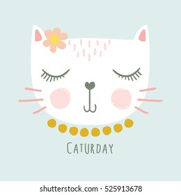 cute cat vector design.
