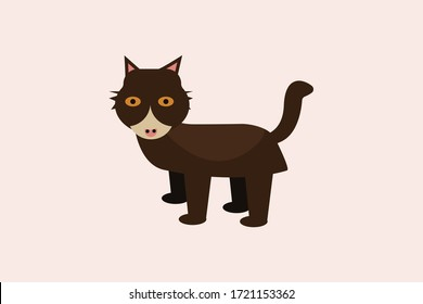cute cat vector design illustration
