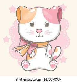 cute cat vector illustration for kids