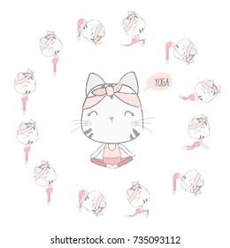 Cute cat YOGA
