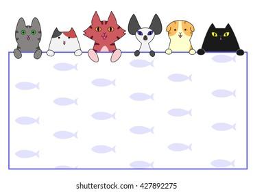 Cute cats card