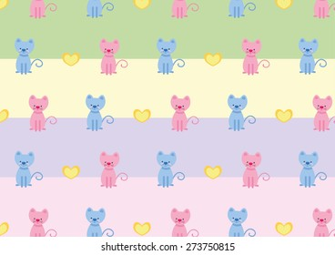 Cute Cats Patterns Package - 4 colors