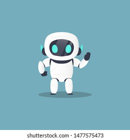 cute chat robot, chatbot, character mascot in isolated background - vector