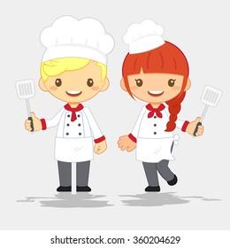 Cute Chef, vector illustration